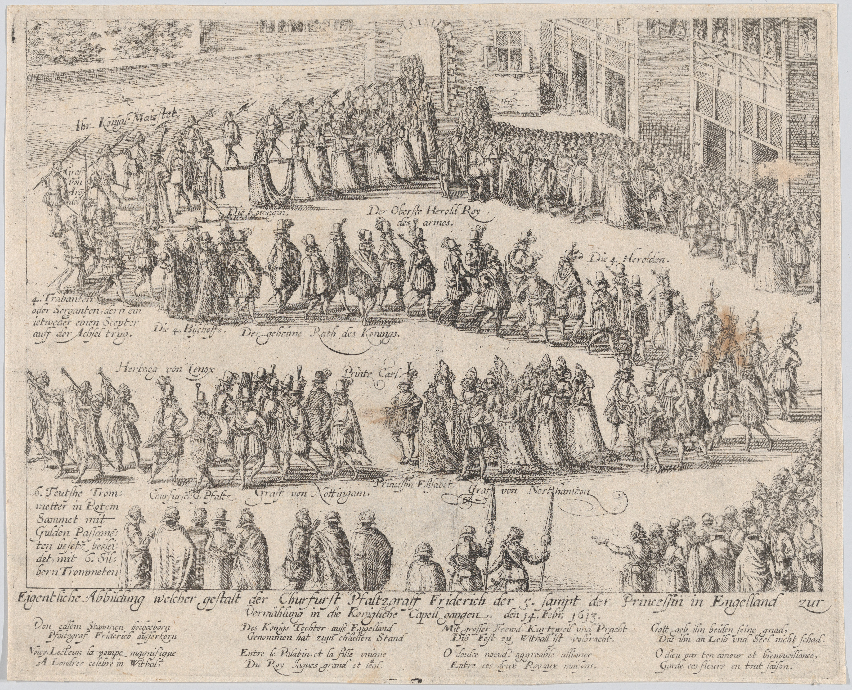 Wedding Procession of Princess Elizabeth and Count Palatine