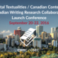 Digital Textualities / Canadian Contexts: Canadian Writing Research Collaboratory Launch Conference   Sept. 20-22, 2016